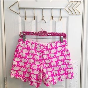 Lilly Pulitzer Shorts - NWT Lilly Pulitzer Buttercup Pink Scalloped Shorts